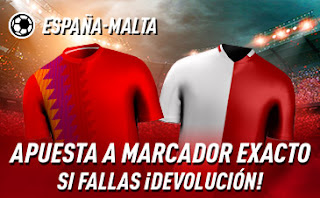 sportium promo España vs Malta 15 noviembre 2019