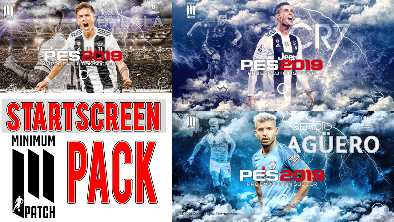 STARTSCREEN PACK PART I FOR PES 2019 Mobile | Minimum Patch