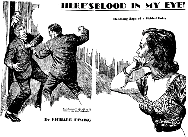 Dime Detective August 1952 - Here's Blood in My Eye!  - Richard Deming