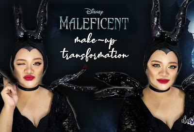 Makeup Transformation to Maleficent in time with Hong Kong Disneyland's Disney Halloween Time