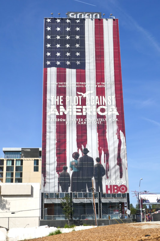 Plot Against America giant TV billboard