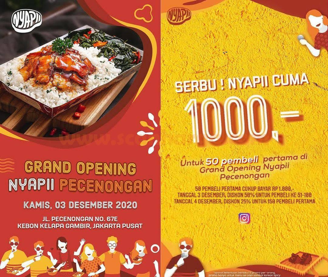 Nyapii Pecenongan Opening Promo Serbu Nyapii cuma Rp 1.000,-