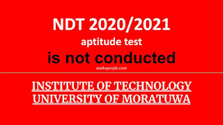 NDT 2020/2021 aptitude test is not conducted