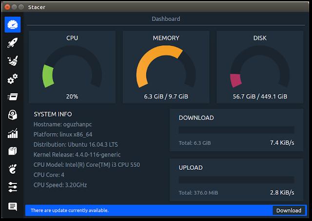 Stacer, el más completo software de optimización para Linux