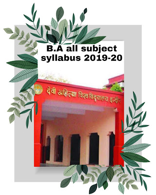 Davv B.A. all subjects (Annual System) syllabus 2019-20