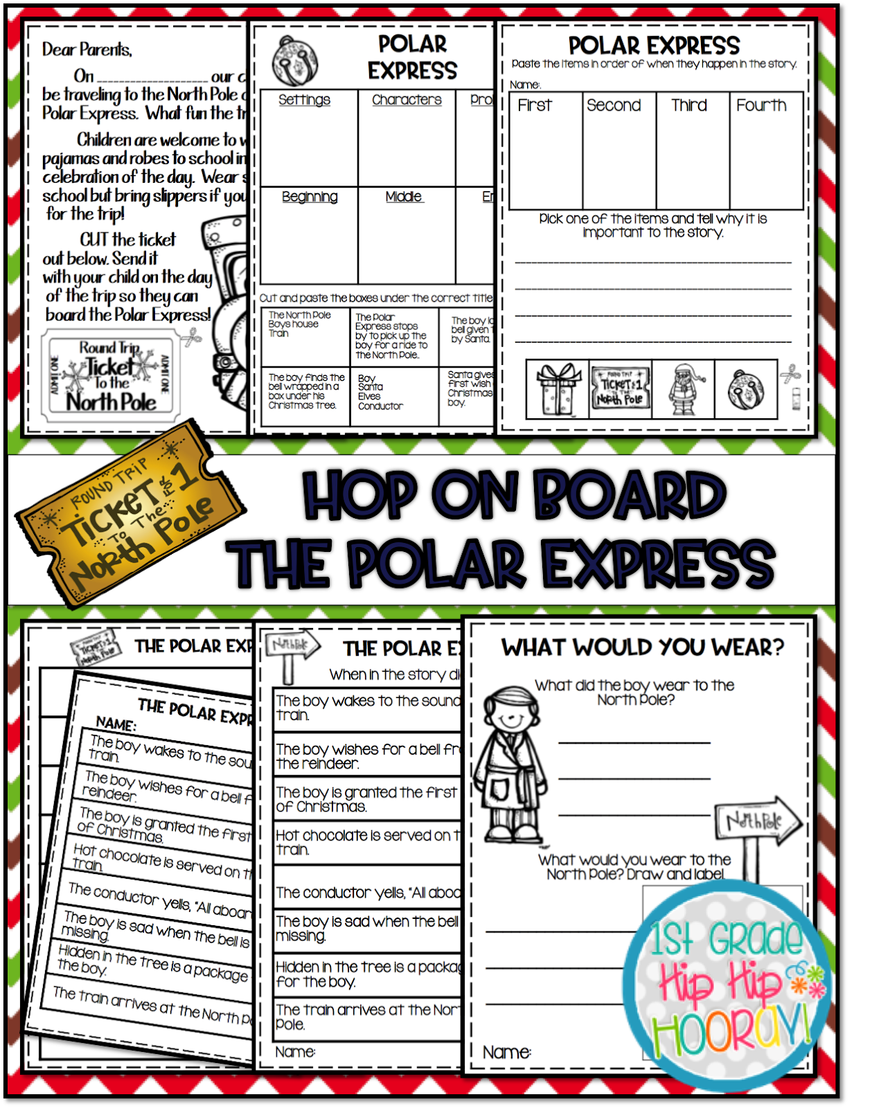 1st Grade Hip Hip Hooray Polar Express