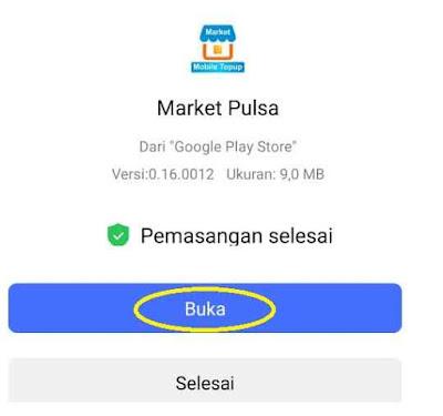 Buka Aplikasi Market Mobile Topup Market Pulsa Digital