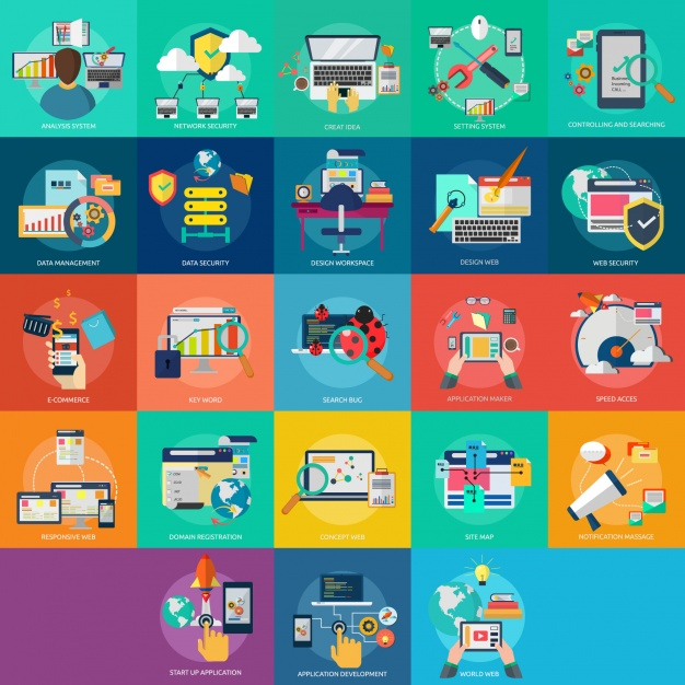web design collection icon Web designs collection Free Vector