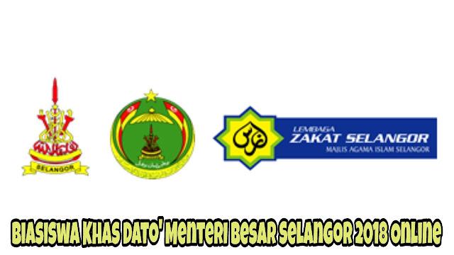 Permohonan Biasiswa Khas Dato' Menteri Besar Selangor 2018 Online