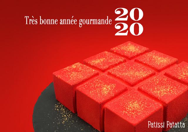 meilleurs voeux 2020, bonne année, happy new year, 2020, patissi-patatta