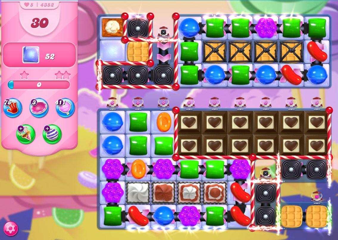 Candy Crush Saga level 4352