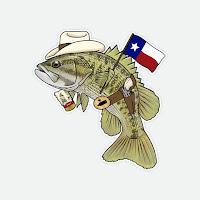 Guadalupe Bass Decal, Rio Grande Cichlid, Rio Grande Cichlid Sticker, Year of the Rio, YOTRio2021, Remedy Provisions, Nate Karnes, Pat Kellner, Fly Fishing, Texas Fly Fishing, Fly Fishing Texas, Texas Freshwater Fly Fishing