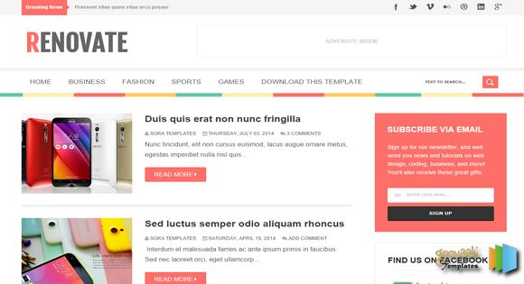 Renovate-Blogger Responsive Template
