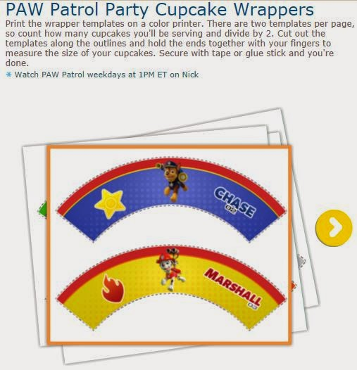 Paw Patrol o Patrulla Canina: para Cupcake para Imprimir Gratis.
