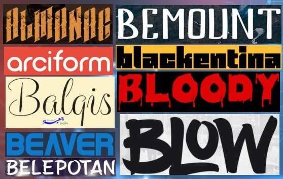 خطوط انجليزية للشعارات