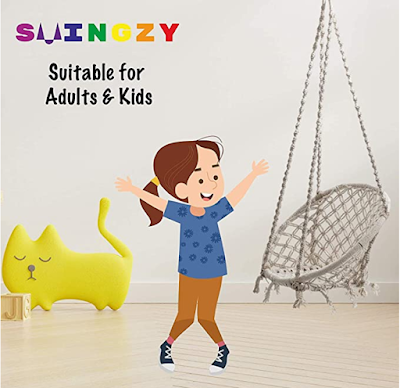 Swingzy Make In India, Cotton Hanging Swing For Adults and Kids make with 100% cotton & Handmade