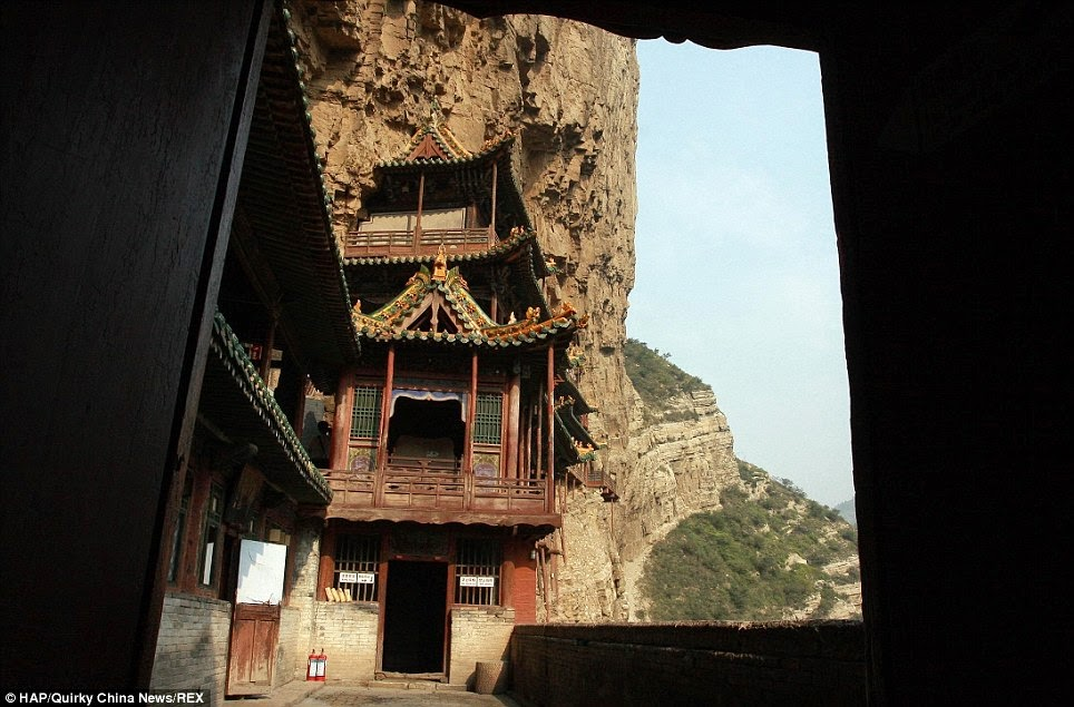 It is the only temple remaining that combines three traditional Chinese religions – Buddhism, Taoism and Confucianism. - Behind The Sacred Mountain Lies A 1,500-Year-Old Temple With One Shocking Fact.