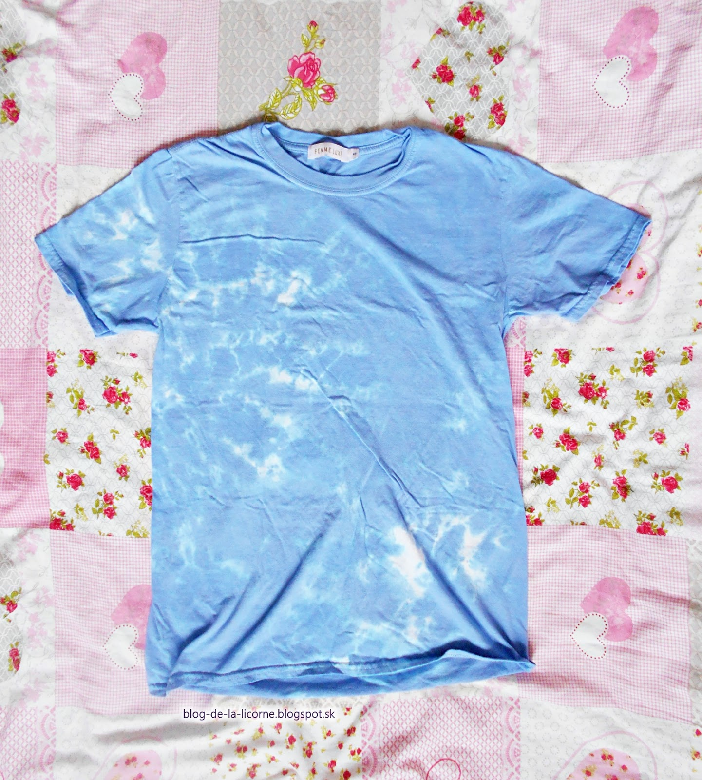 Femme Luxe Finery Mid Blue Tie Dye Oversized T-Shirt Veda review