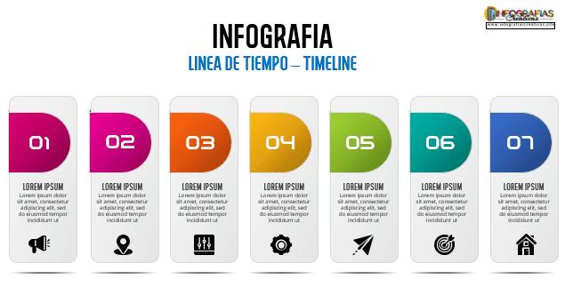 Plantilla para linea de tiempo diseño creativo 19