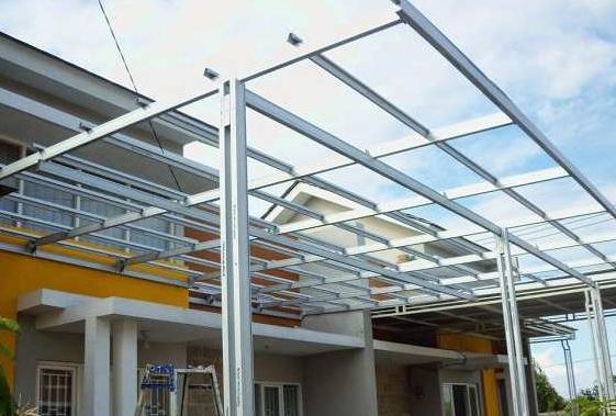 model variasi kanopi baja ringan 41 minimalis modern terbaru untuk teras rumah