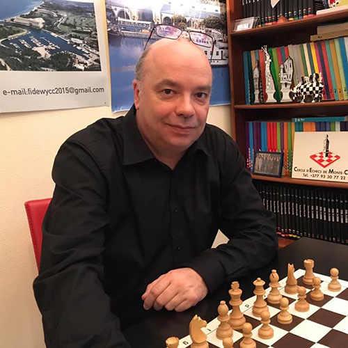 Jean Michel Rapaire, Président du Cercle d'Échecs de Monte-Carlo et Président de la Fédération Monégasque des Échecs