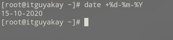 date commands examples