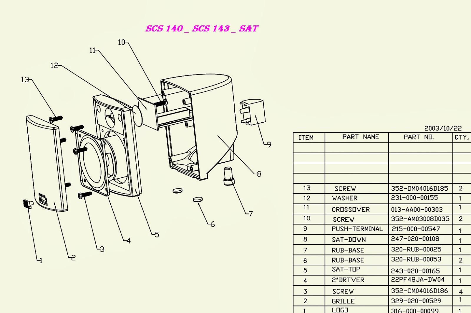jbl scs 140 scs146 schematic diagram [ 1600 x 1062 Pixel ]