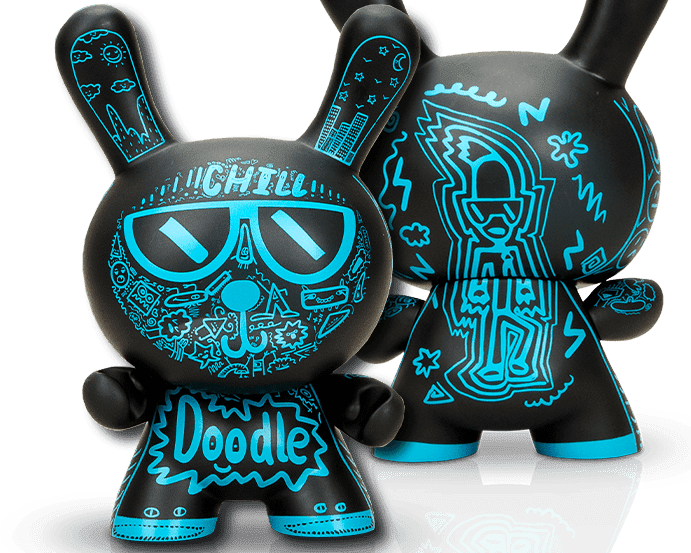The Blot Says Loot Crate Exclusive Doodle Boy Dunny 8 Vinyl Figure By The Doodle Boy X Kidrobot