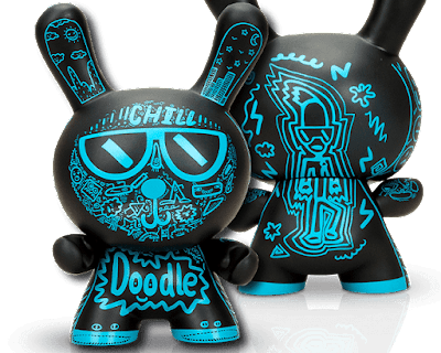 "Loot Crate Exclusive Doodle Boy Dunny 8"" Vinyl Figure by The Doodle Boy x Kidrobot"