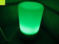Licht grün: Aiho 50ml USB Auto Aroma Diffuser Mini AD-P3 Aromatherapie Ätherische Öl Ultraschall Luftbefeuchter Humidifier