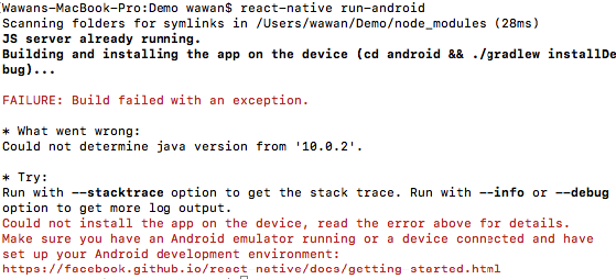 React Native Run Android Release