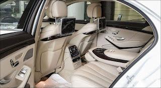 Khoang nội thất phía sau Mercedes S450 L