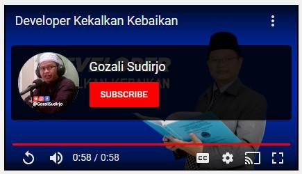 Ikuti dan SUBSCRIBE Gozali Sudirjo