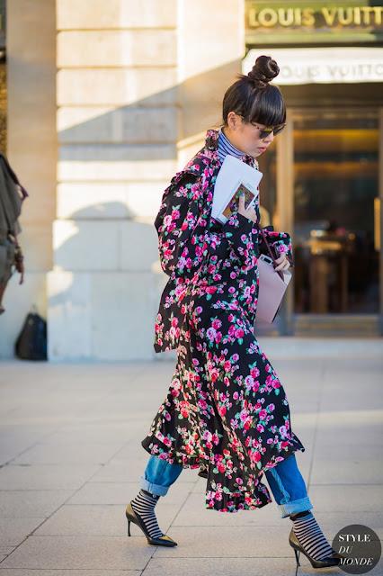 floral print maxi dress street style