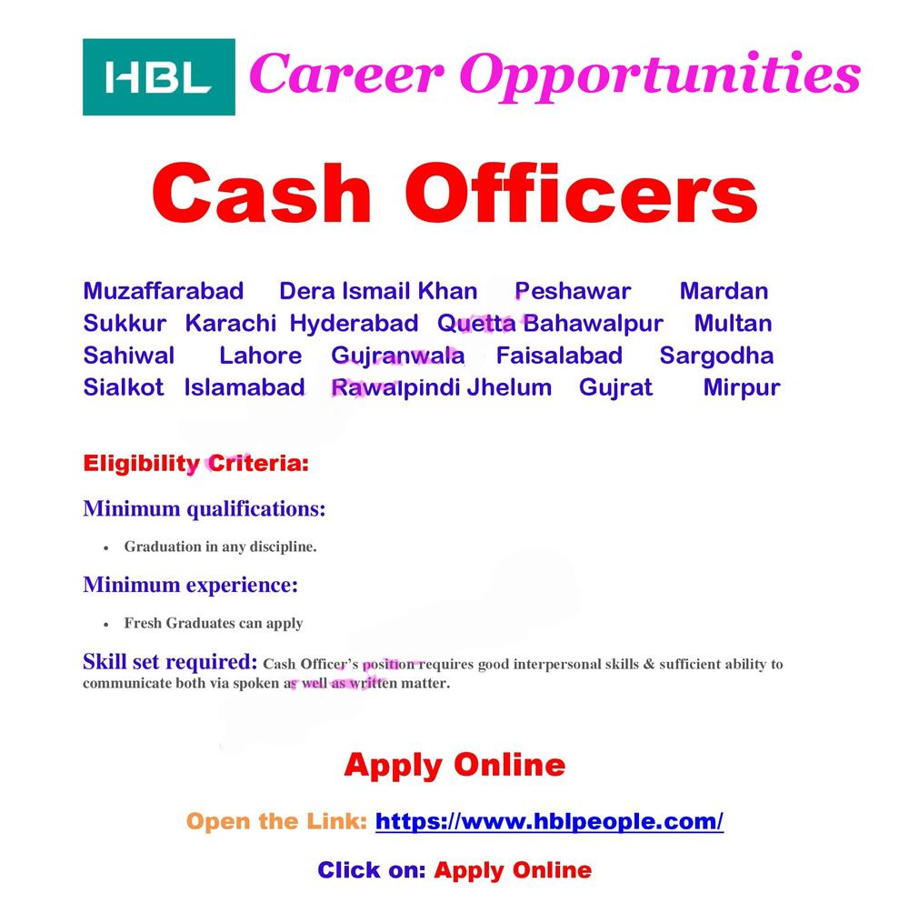 HBL New jobs 2021|Apply Online | www.merenukkri.com