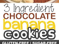 3 Ingredient Healthy Chocolate Cookie Recipe (the perfect guilt-free snack!)