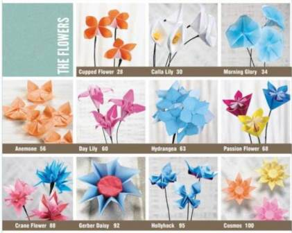 Mixed Media Artist Book Review Beautiful Origami Flowers
