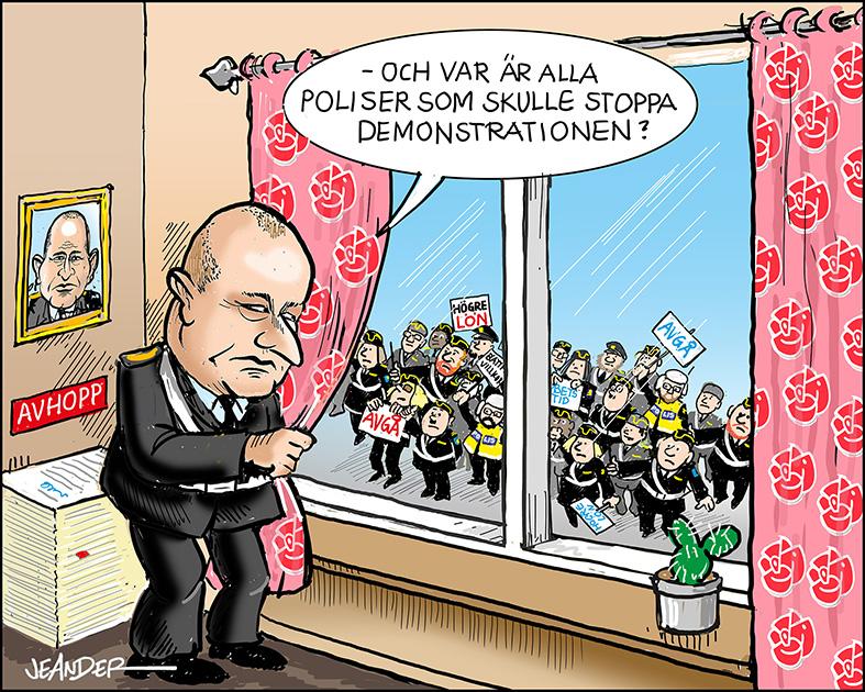 JEANDERS BILDBLOGG: Missnöjda poliser.