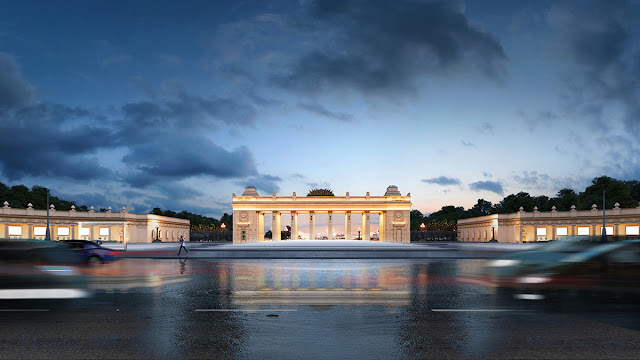 Gorky Park entrance square 3D visualization | Archirost blog