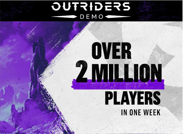 Outriders Demo Played by more than 2 Million Players for almost 9.5 Million hours in only one week