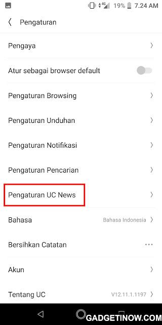 menghilangkan notifikasi uc news di uc browser
