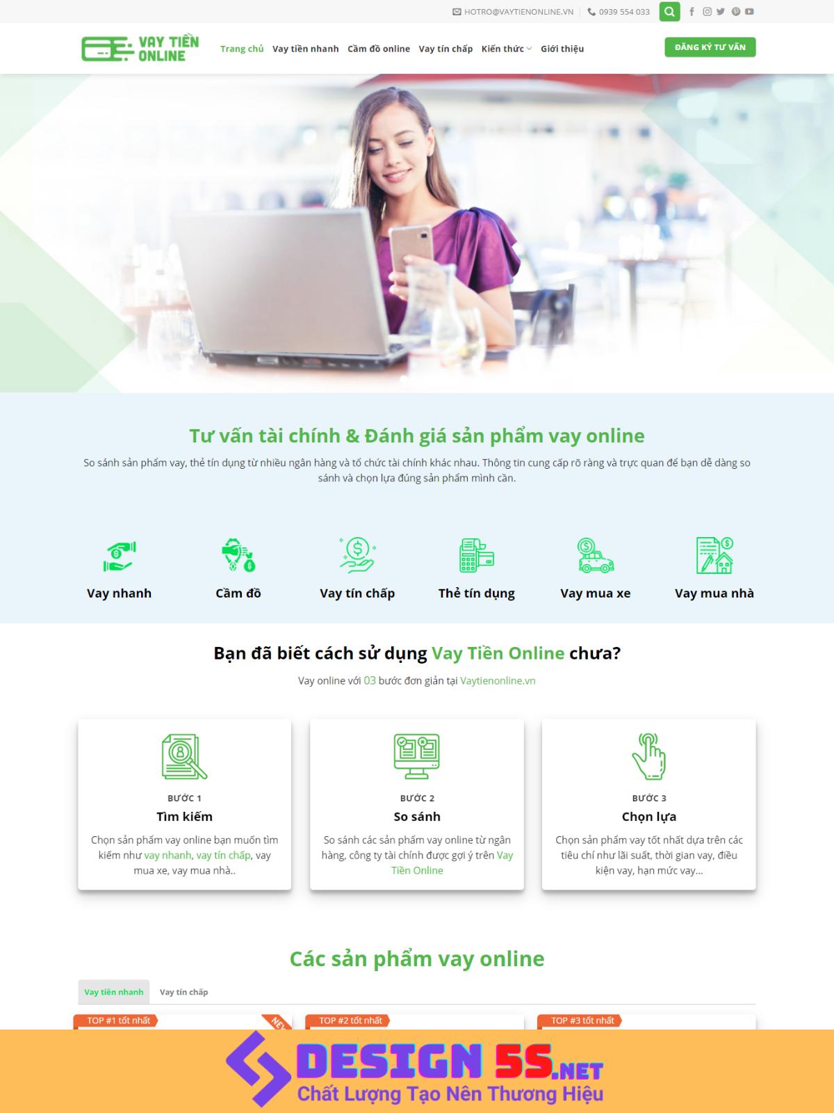 Template blogspot dịch vụ cho vay tiền online VSM76