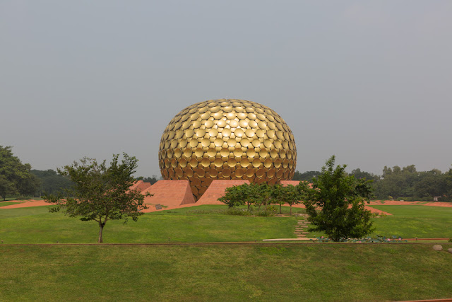 matrimandir auroville commune pondicherry puducherry india