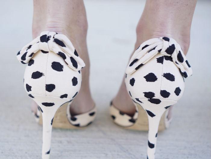 kate spade heels, bow heels, spotted heels, kate spade bow heels
