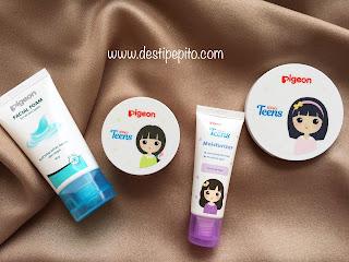 Produk-produk skincare dan makeup Pigeon Teens