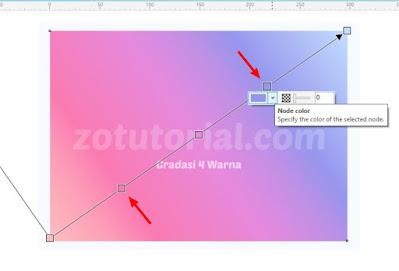 Membuat Backgroud Gradasi 3 Warna di CorelDRAW 2020