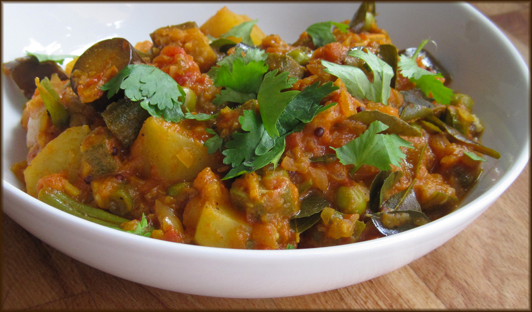 Southern Indian Vegetable Curry - A Glug of Oil