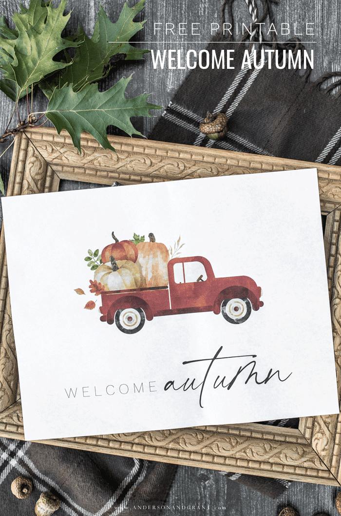 Free Welcome Autumn Printable