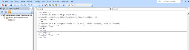 code vba powerpoint dalam vbe