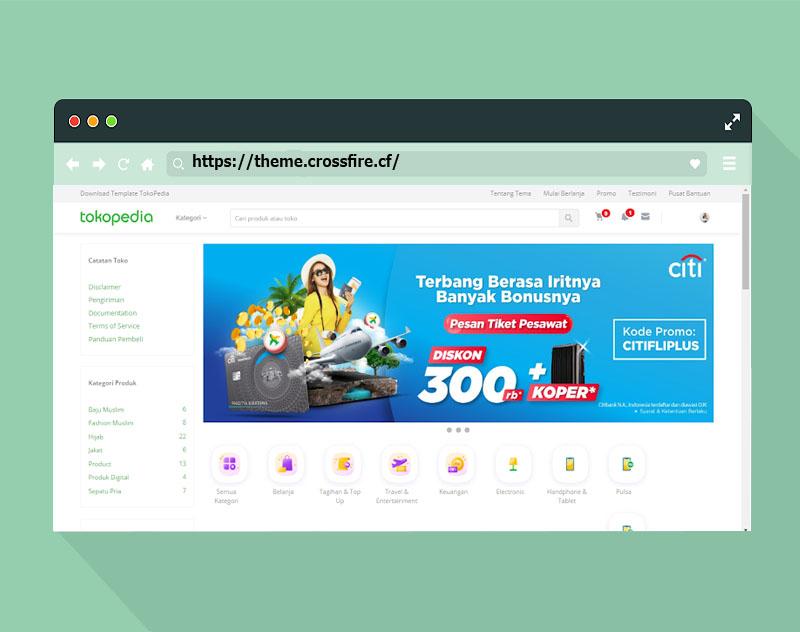 Download the free VioToko Tokopedia Premium-like Redesign Template - Responsive Blogger Template